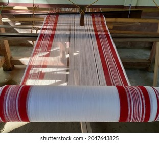 Photo of a traditional weaving loom from North East India Assam in a rural household