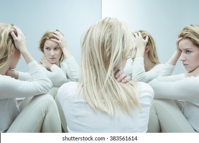 Photo of troubled female with low self esteem