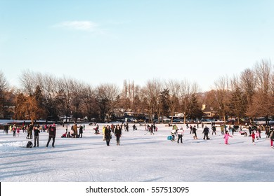 Photo of Trout Lake Frozen in Vancouver, BC, Canada