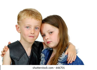 Photo of two children together.