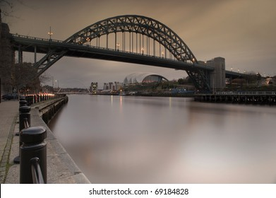Photo of the Tyne Bridge at Newcastle upon Tyne/Gateshead, England. This shot has not been digitally manipulated - it was achieved by using a neutral density filter and a tobacco grad filter.
