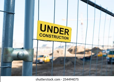 Photo Of Under Construction Sign On Gate