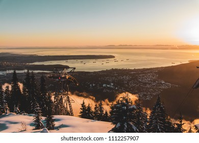 Photo of Vancouver view from Grouse Mountain in North Vancouver, BC, Canada