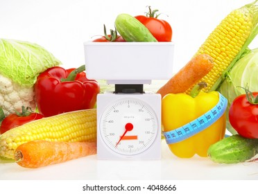 Photo of vegetables on a white background