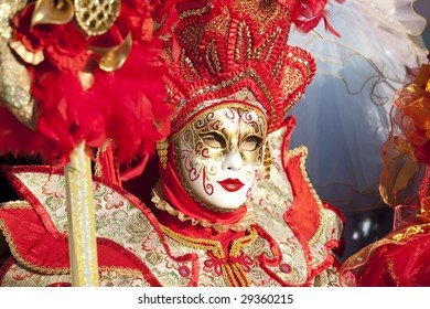 Photo of Venice during its famous carnival.