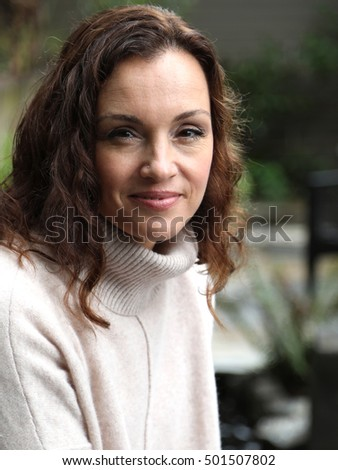 Photo Very Attractive 40 Yearold Woman Brown Stock Photo Edit Now