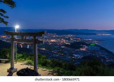A photo of a very popular shrine in Kanonji, Kagawa, Japan
