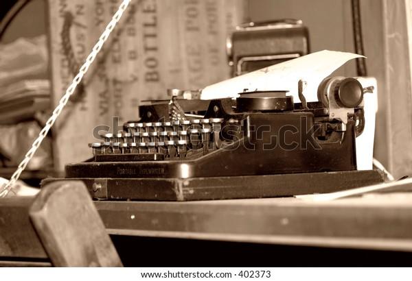 Photo of a Vintage Typewriter
