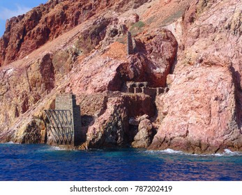 Photo from volcanic rock formations in Vani old mine, Milos island, Cyclades, Greece