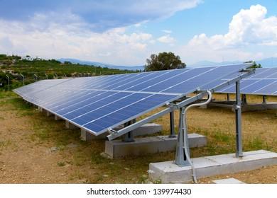a photo voltaic park in Greece