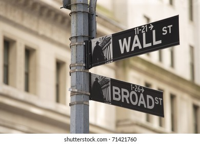 Photo of the Wall Street sign in New York city.