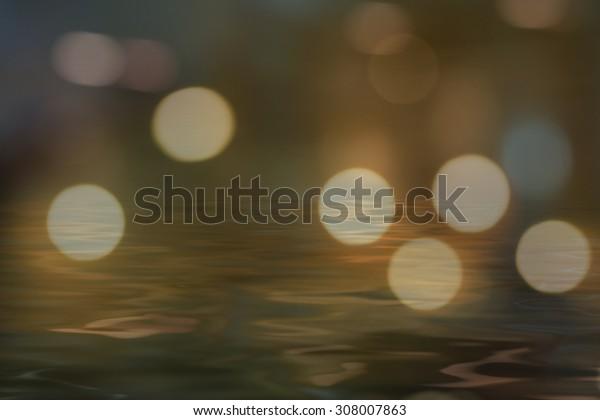 Photo wallpaper water shadow and light, beautiful bokeh
