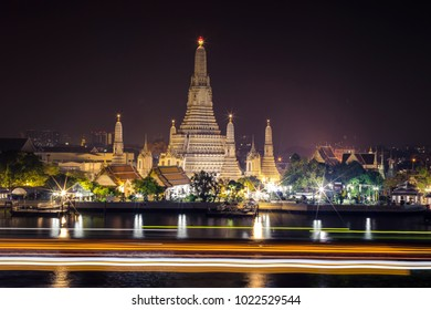 The photo of Wat Arun or the temple of Dawn, the very famous spot of Bangkok, Thailand. The temple is located by the bank of river Chaopraya, the bold line of this capital.
