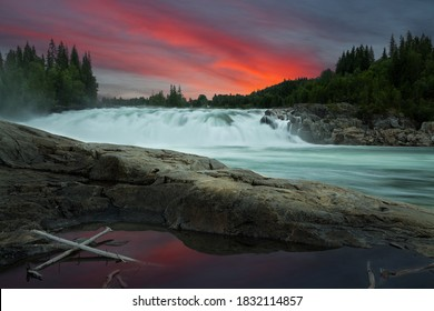 Photo from a waterfall in Vefsna river,Norway