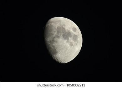 Photo of the waxing gibbous moon.