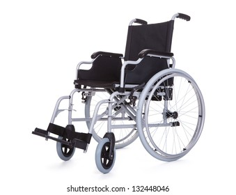 Photo of wheelchair. Isolated on white background
