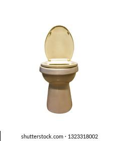 Photo of a white ceramic toilet bowl sanitary ware toilet