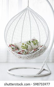 photo of White round chair in the room