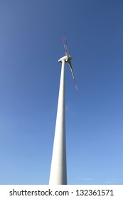 Photo of a Wind energy turbine.