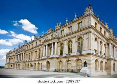 Photo of a wing of the Versailles Palace in Paris, France.