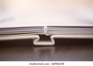 photobook with a cover of leatherette