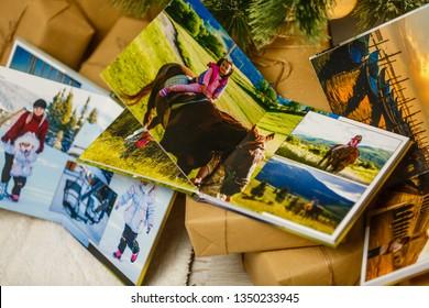 Photobook photo album pages open