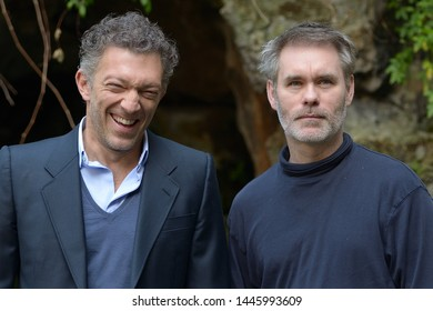 Photocall for the film by Jean-Francois Richet with Vincent Cassel 'A moment of madness' Hotel De Russie March 15, 2016 in Rome, Italy in photo Vincent Cassell  and the Director Jean-Francois Richet