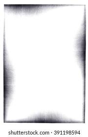 Photocopy border on white background