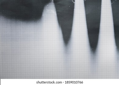 Photocopy of graph paper texture and background, close up
