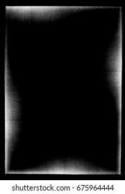 Photocopy texture border on black background