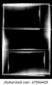 Photocopy texture borders on black background