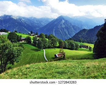 Photogenic pastures and hills of the Braunwald forest area - Canton of Glarus, Switzerland