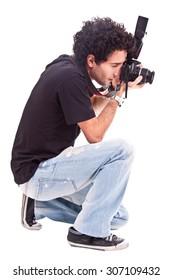 photografer isolated on white