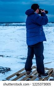 Photografer in winter