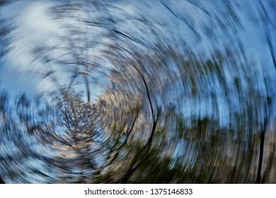 Photograp shot using long exposure time and panning skill