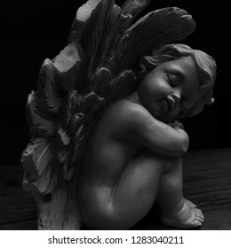 Photograph of an angel sculpture