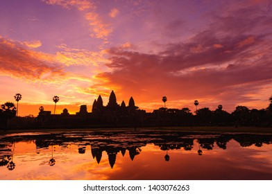 Photograph of Angkor Wat in Sunrise Time at Cambodia