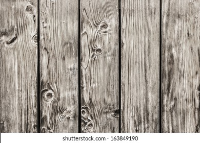 Photograph of antique rustic Pine wood fence - detail.