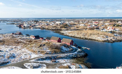 A photograph of the beautiful fishing village, Titran, in Norway.