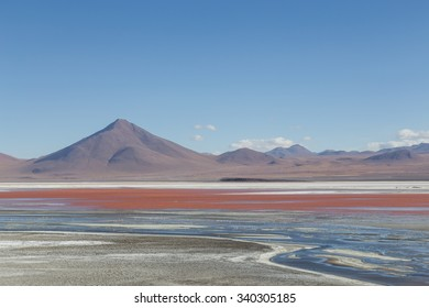 Photograph of the beautiful Laguna Colorada in the South West of Bolivia.