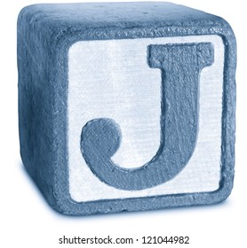 Photograph of Blue Wooden Block Letter J