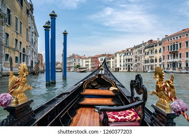 Photograph of the canals and corners of beautiful Venice. Travelling inside gondola