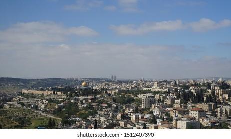 Photograph of the city of Jerusalem.