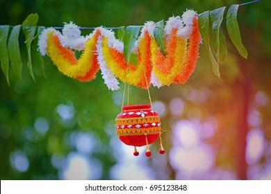 photograph of  dahi handi on gokulashtami festival in india , which is  Lord Shri Krishna's birth day