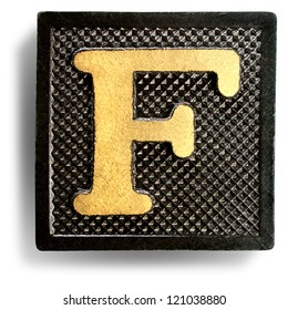 Photograph of Game Tile Letter F