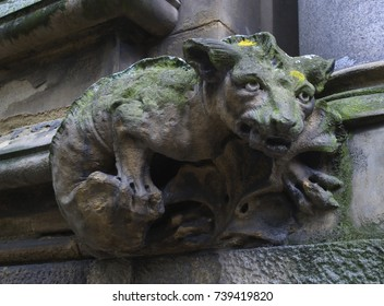 Photograph of a gargoyle on a building in the UK