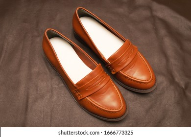 It is a photograph of the loafers.