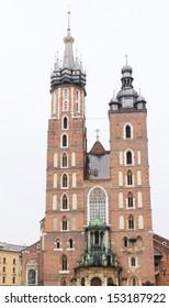 Photograph of main square in Krakow Poland.