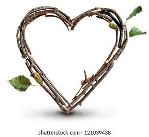 Photograph of Natural Twig and Stick Heart
