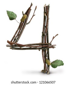 Photograph of Natural Twig and Stick Number 4